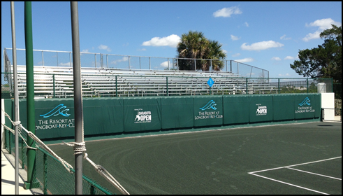 Elevated views from rental bleachers in Sarasota Florida