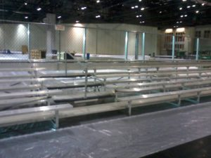 Used 5row bleachers for sale