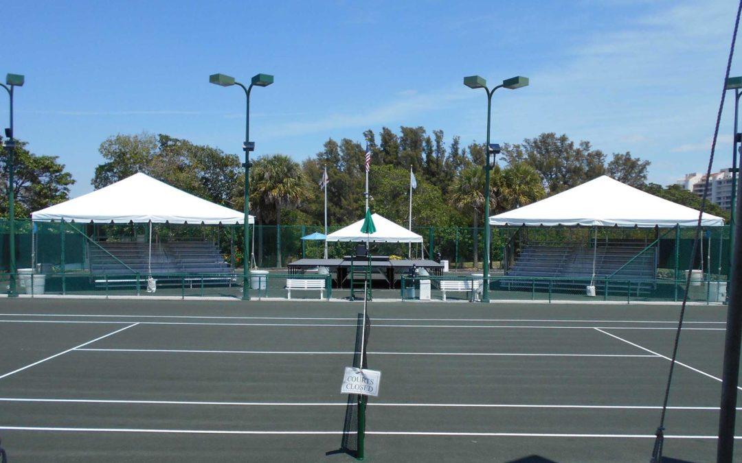 Sarasota Open Tennis Tournament Bleacher Rental