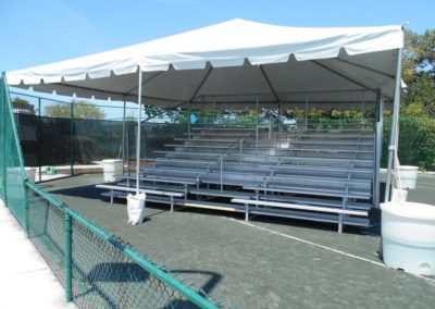 tennis tournament bleachers
