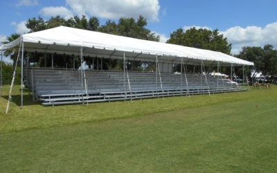 Sarasota Bradenton Florida Bleacher Rental for Modern Pentathlon Event