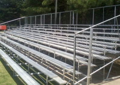 10 row bleacher installation