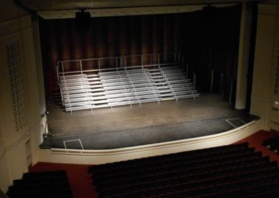 Balcony view bleachers