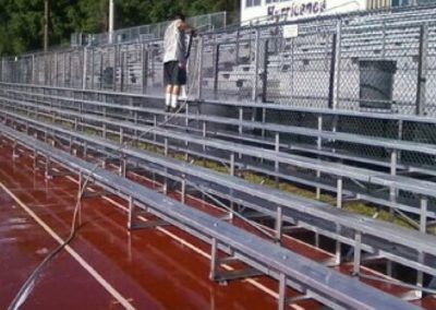 Bleacher Cleaning Service