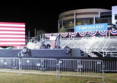 Bleachers for Political Rally