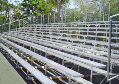 Bleachers with Safety Fence