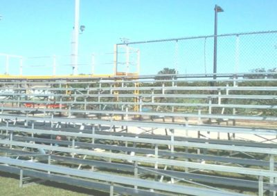 Temporary football bleachers